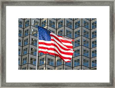 Old Glory Waves Proudly Framed Print by Lynn Palmer