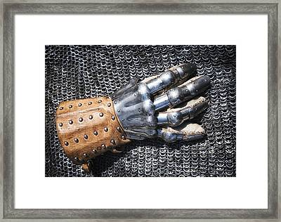 Old Glove Of A Medieval Knight Framed Print by Matthias Hauser