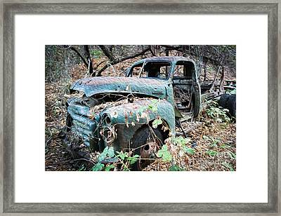 Old Gmc Framed Print by Dan Julien