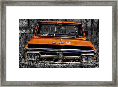 Old Gmc Truck Put Out To Pasture Framed Print by Brian Mollenkopf