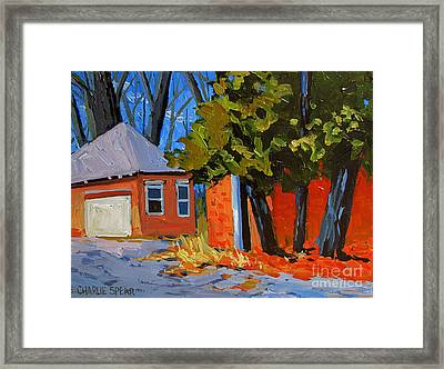 Old Golf Course Sheds Framed Print