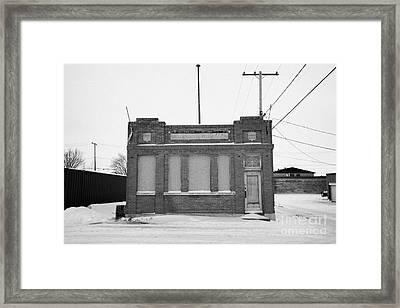 old government telephones telephone exchange building Kamsack Saskatchewan Canada Framed Print