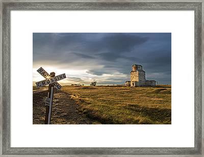 Old Granary In Late Evening Light Framed Print by Chuck Haney