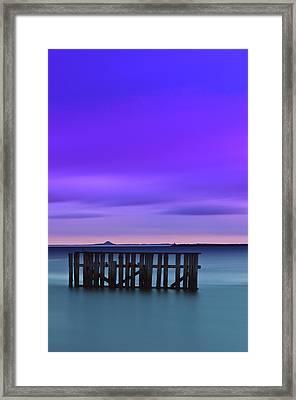 Old Granton Pier Framed Print