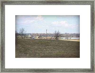 Old Gray Shed On The Hill Framed Print by Paulette B Wright