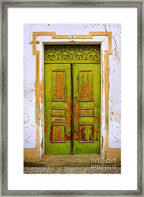 Old Green Door Framed Print