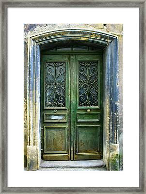Old Green Door Framed Print by Georgia Fowler
