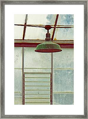 Old Green Lamp Framed Print by Patricia Strand
