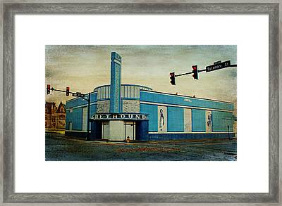 Old Greyhound Bus Station Framed Print by Sandy Keeton