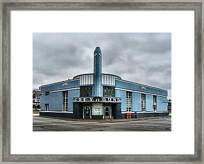 Old Greyhound Bus Terminal  Framed Print