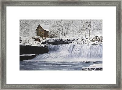 Old Grist Mill Framed Print by Johanna Lerwick