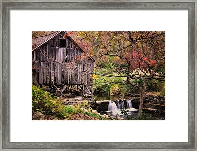 Old Grist Mill - Kent Connecticut Framed Print by Thomas Schoeller