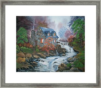 Old Grist Mill Framed Print by Sharon Duguay