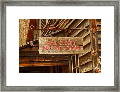 Old Grist Mill Sign Framed Print by Adam Jewell