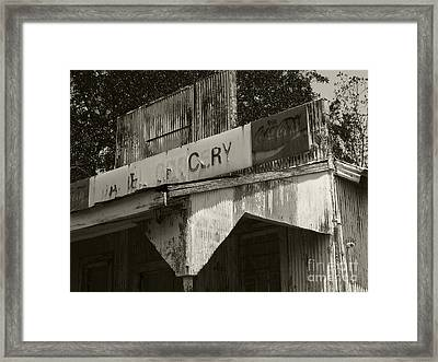 Old Grocery Store Framed Print