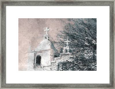 Framed Print featuring the painting Old Guadalupe Church by Julie Lueders