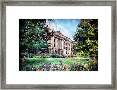 Old Guilford County Courthouse Summertime Framed Print