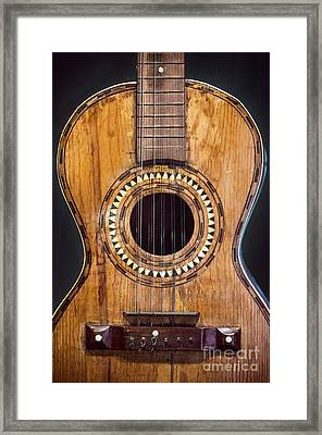 Old Guitar Framed Print by Carlos Caetano