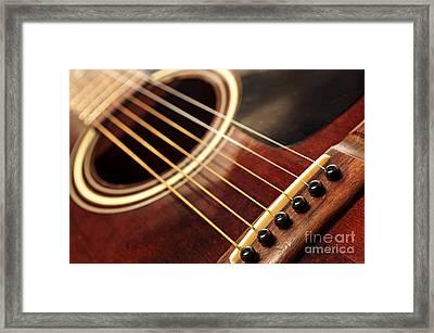 Old Guitar Framed Print by Elena Elisseeva
