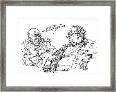Old Guys  Framed Print by Ylli Haruni