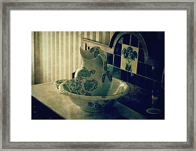 Old Hand Washer Framed Print by Maria Angelica Maira