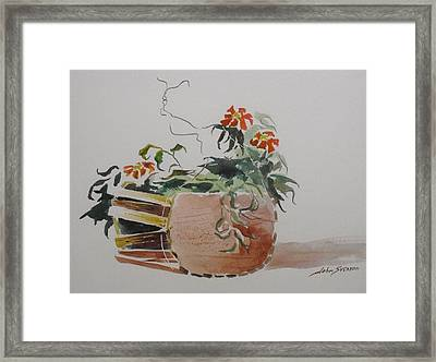Old Hanging Basket   Framed Print by John  Svenson