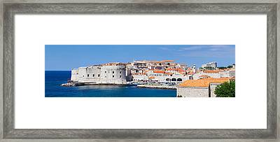 Old Harbor And Old Town Of Dubrovnik Framed Print by Panoramic Images