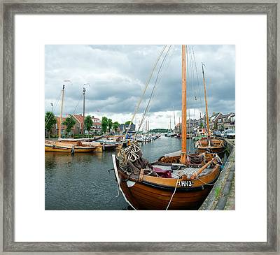 Old Harbor Framed Print by Hans Engbers