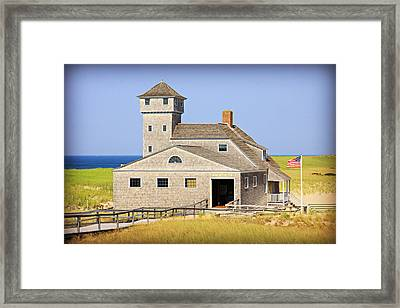 Old Harbor Lifesaving Station--cape Cod Framed Print by Stephen Stookey