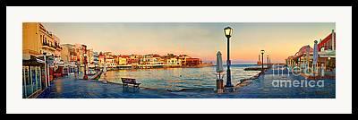 Panoramic Marina Framed Prints