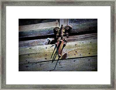 Framed Print featuring the photograph Old Hardware by Ludwig Keck