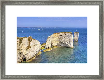 Old Harry Rocks - Purbeck Framed Print by Joana Kruse