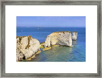 Old Harry Rocks - Purbeck Framed Print