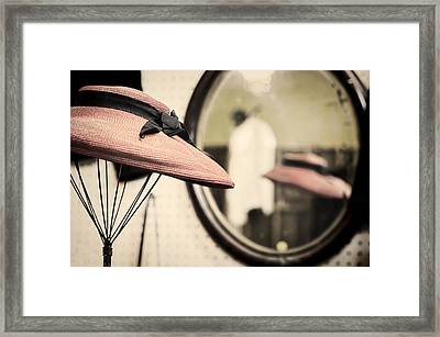 Old Hat Framed Print by Heather Applegate