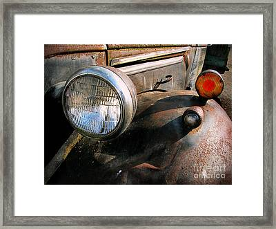 Old Headlights Framed Print by Colleen Kammerer