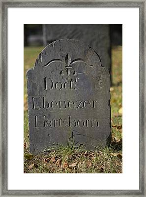 Old Headstone Framed Print