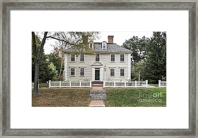 Old Historic Deerfield Massachusetts Framed Print by Edward Fielding
