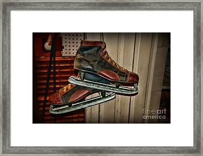 Old Hockey Skates Framed Print by Paul Ward