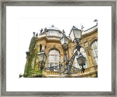 Framed Print featuring the painting Old Home by Georgi Dimitrov