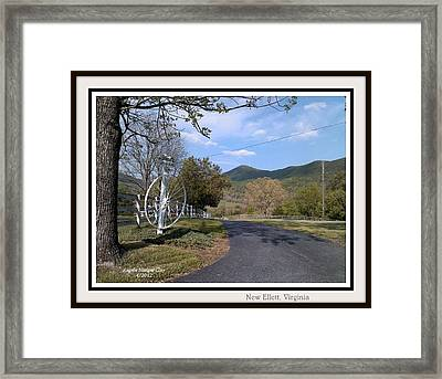 Framed Print featuring the digital art Old Homeplace In New Elliett Va by Angelia Hodges Clay