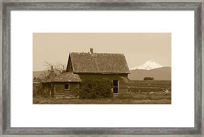Old Homestead Framed Print by Angie Vogel