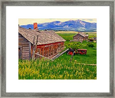 Old Homestead Near Townsend Montana Framed Print by Michael Pickett