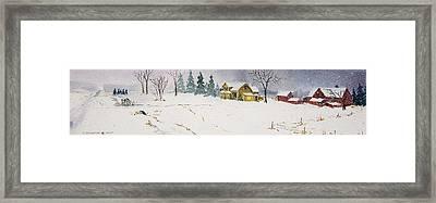 Old Homestead Framed Print by Susan Crossman Buscho