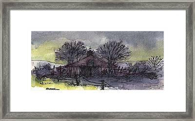 Framed Print featuring the mixed media Old Homestead by Tim Oliver