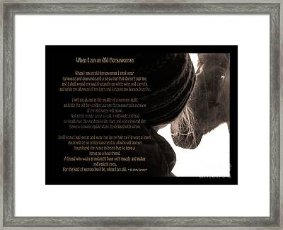 Old Horsewoman Framed Print