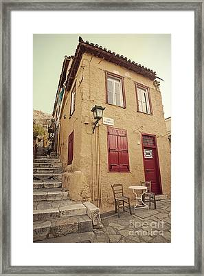 Framed Print featuring the photograph Old House  by Aiolos Greek Collections