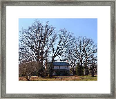 Old House Big Trees Old 421 - 51008801b Framed Print by Paul Lyndon Phillips