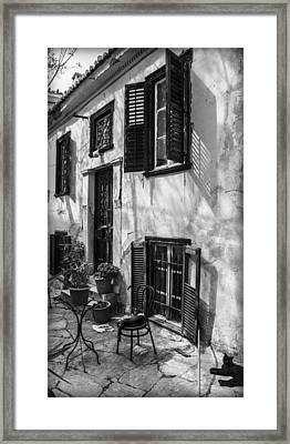 Old House Black And White Framed Print by Radoslav Nedelchev