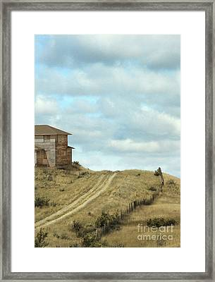 Old House By Dirt Road Framed Print by Jill Battaglia