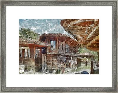 Framed Print featuring the painting Old House by Georgi Dimitrov